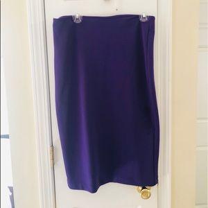 Purple pencil skirt